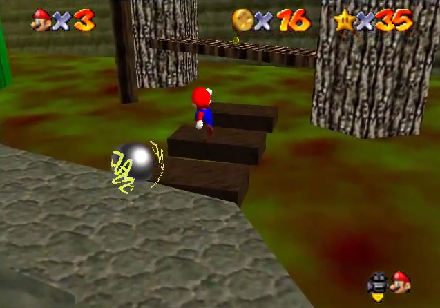 super mario 64 star road first boss